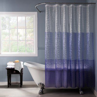 Reflection 3D Vinyl Shower Curtain Color: Purple/Lilac
