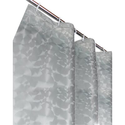 Vinyl Shower Curtain Color: Silver