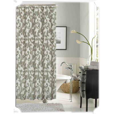 Dahlia Shower Curtain Color: Silver