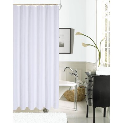 Winnifred Waffle Weave Textured Fabric Shower Curtain Color: White