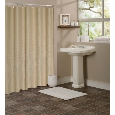 Winnifred Waffle Weave Textured Fabric Shower Curtain Color: Mocha