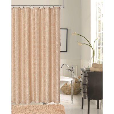 Twilight Polyester Shower Curtain Color: Gold