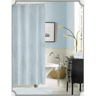 Irvin Printed Shower Curtain Color: Blue