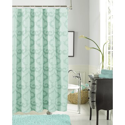 Luxembourg Shower Curtain Color: Aqua