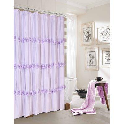 Rosette Shower Curtain Color: Purple