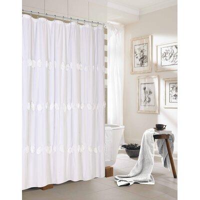 Rosette Shower Curtain Color: White