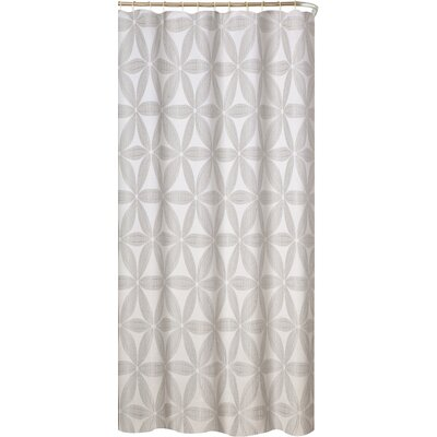 Iris Fabric Shower Curtain Color: Silver