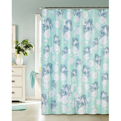 Printed Waffle Shower Curtain
