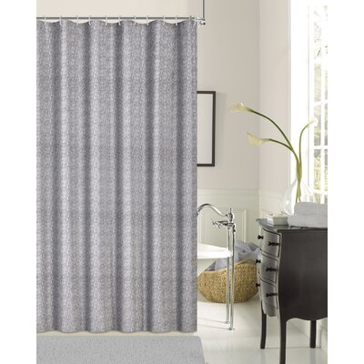 Kingston Shower Curtain Color: Silver