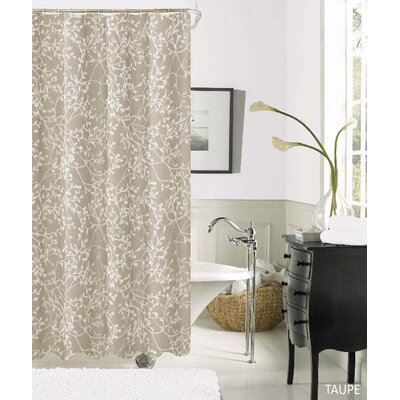 Horsham Printed Shower Curtain Color: Taupe