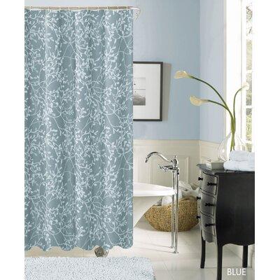 Horsham Printed Shower Curtain Color: Blue