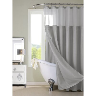 Widger Resort Waffle Shower Curtain Set Color: Gray