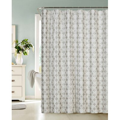 Twilight Polyester Shower Curtain Color: Silver
