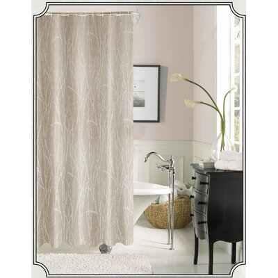 Irvin Printed Shower Curtain Color: Taupe