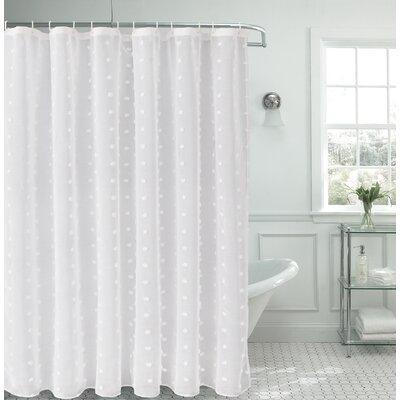 Liah Snow Flower 3D Puff Shower Curtain