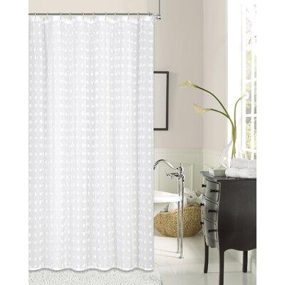 Knouse Cut Snow Flower 3D Puff Shower Curtain