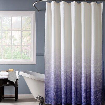 Otelia Lace Ombre Shower Curtain Color: Purple