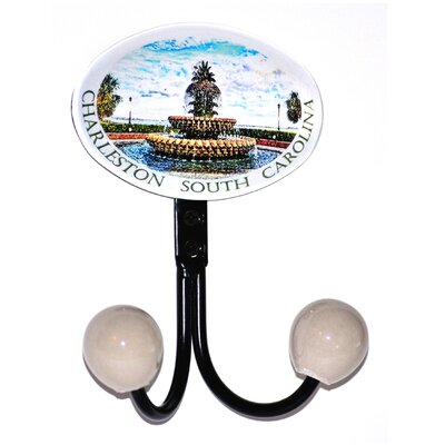 Charleston Fountain Glass Inlay Double Hook