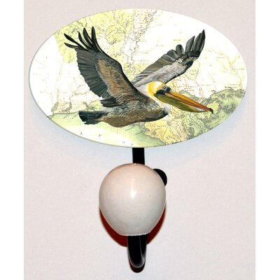 Gulf Pelican Glass Inlay Hook