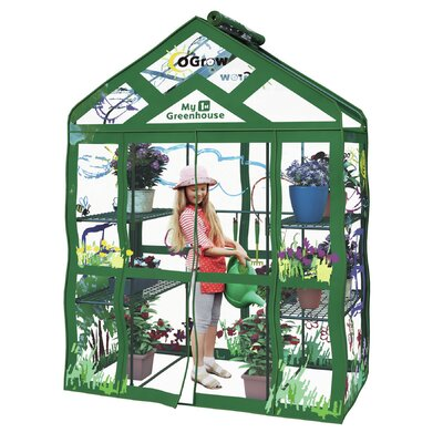 My First Kids 4.66 Ft. W x 2.41 Ft. D Greenhouse