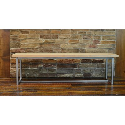 Port Wood Bench Frame Color: Gloss Silver, Seat Color: Maple