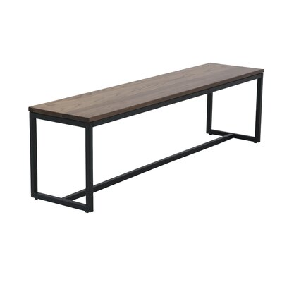 Port Wood Bench Color: Chocolate Spice