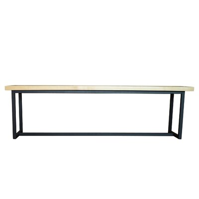 Port Wood Bench Seat Color: Walnut, Frame Color: Textured Black