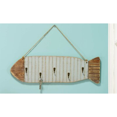 Rope Fish 5 Hook Wall Rack