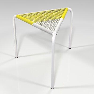 Stingo Hand-Woven PVC Cord Stool Color: Yellow / White