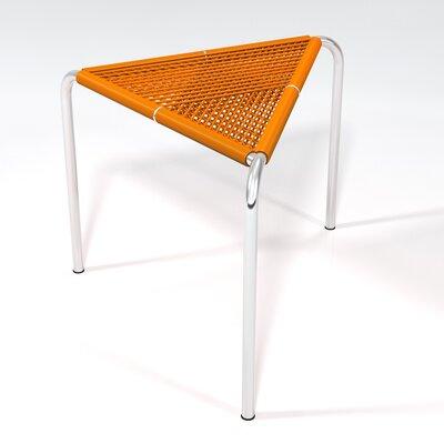 Stingo Hand-Woven PVC Cord Stool Color: Orange / Natural
