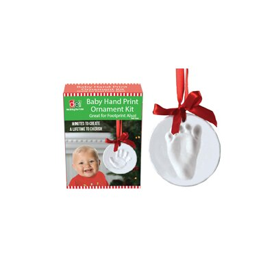 Christmas Morning Polymer Baby Hand Print Shaped Ornament