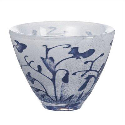 Kosta Boda Floating Blue Flower Decorative Bowl