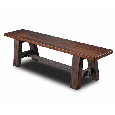 "Tusk Tenon Wood Bench Size: 60"", Top Color / Base Color: Ebony / Ebony"