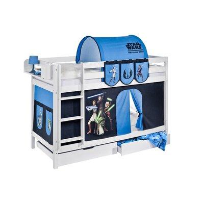 Lilokids Etagenbett Jelle Star Wars the Clone Wars mit Vorhang und 2 Lattenrosten, 90 x 190 cm