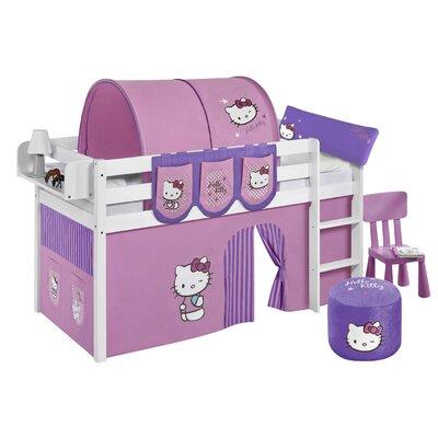 Lilokids Hochbett Jelle Hello Kitty mit Vorhang, 90 x 190 cm