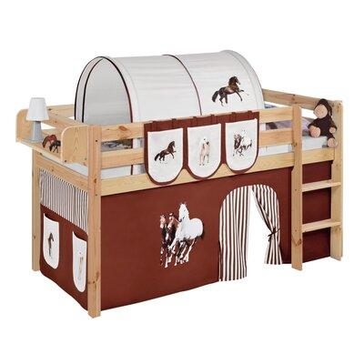 Lilokids Hochbett Jelle Pferde mit Vorhang, 90 x 200 cm