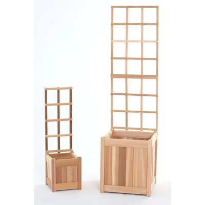 4 Piece Wood Lattice Panel Trellis Set