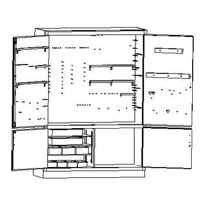 "Shain 84"" H x 60"" W x 22"" D Power Technology Complete Storage System"