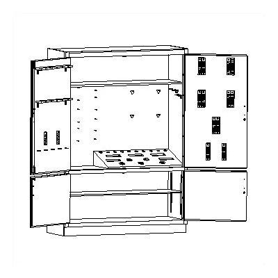 """84"""" H x 60"""" W x 22"""" D Foundry Storage Cabinet"""