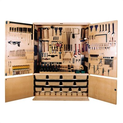 """84"""" H x 60"""" W x 22"""" D General Shop Storage Cabinet Tools: Included"""