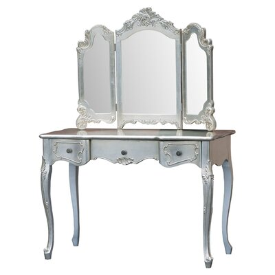 DUSX Francesca Rectangular Dressing Table and Mirror