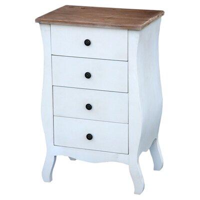 DUSX Eden 4 Drawer Bedside Table