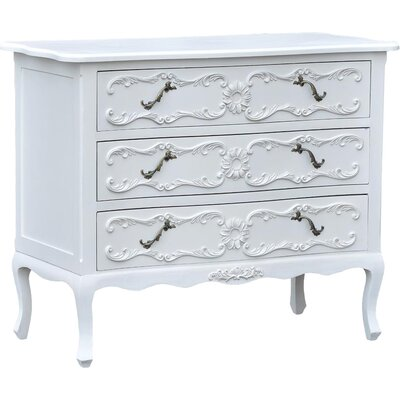 DUSX Tiffany 3 Drawer Chest of Drawers