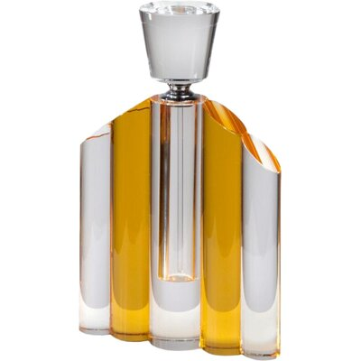 DUSX Lena Crystal Perfume Bottle in Amber