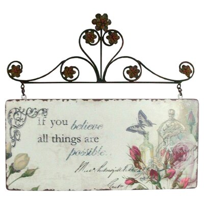DUSX All Things Are Possible Graphic Art Plaque
