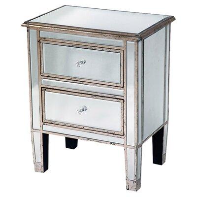 DUSX Henrietta 2 Drawer Bedside Table