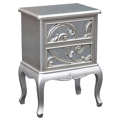 DUSX Lucinda 2 Drawer Bedside Table