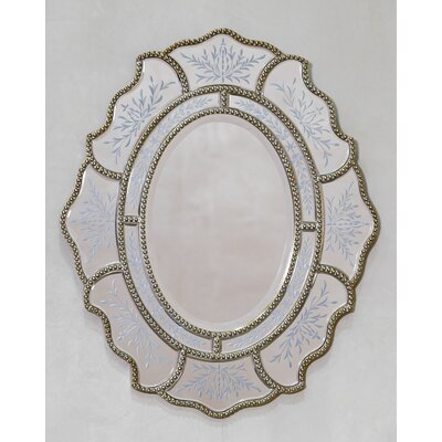 DUSX Venetian Vintage Ribbon Mirror with Etching