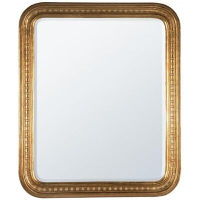DUSX Louis Philippe Etched Overmantle Beveled Mirror