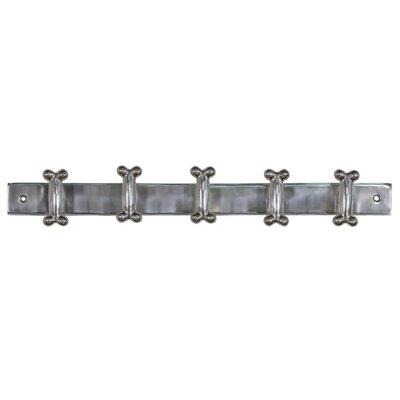 DUSX Aluminium Hanger Bone Wall Mounted Coat Rack with 5 Hooks